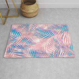 Palm Leaves - Iridescent Pastel Rug