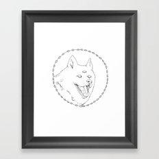 Visions dog Framed Art Print
