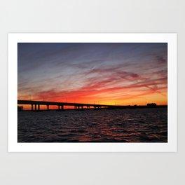 An Evening on the Caloosahatchee I Art Print