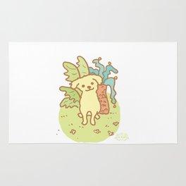 Yellow Puppy Rug