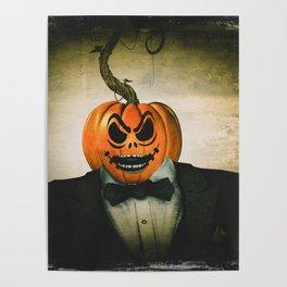 Evil Pumpkin Man Poster