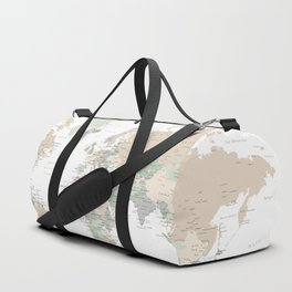 """World map with cities, """"Anouk"""" Duffle Bag"""