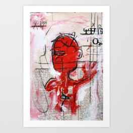 Grasping For Air New Orlean's Jazz Art Print