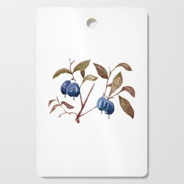 Watercolor Bog Bilberry Cutting Board