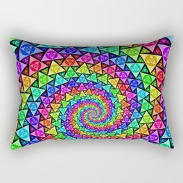 PsycoSpiral Rectangular Pillow