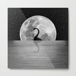 Nessie Starry Night II - Loch Ness Monster Metal Print