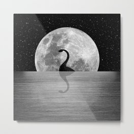 Nessie Starry Night II - Loch Ness Monster Metal Print