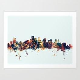BostonMassachusetts Skyline Art Print