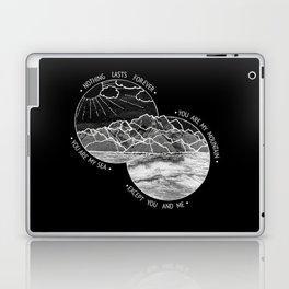 mountains-biffy clyro (black version) Laptop & iPad Skin