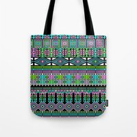 aztec Tote Bags featuring Aztec by Fimbis
