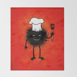 Evil Bug Chef Loves To Cook Throw Blanket
