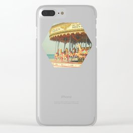 Seaside Carousel Clear iPhone Case