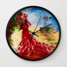 Rose of the Karoo by M.Viljoen Wall Clock