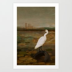 Marshland vs Man Art Print