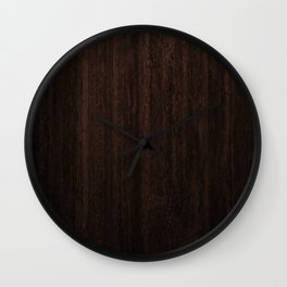 Very Dark Coffee Table Wood Texture Wall Clock