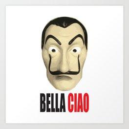 Dalí Mask La Casa de Papel Bella Ciao Art Print