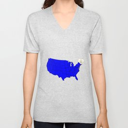 State of Rhode Island Unisex V-Neck