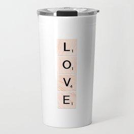 Scrabble LOVE Vertical Travel Mug