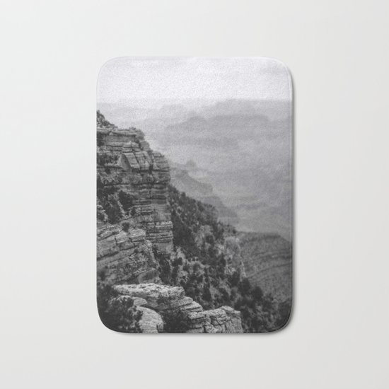 Grand Canyon in Black and White Bath Mat