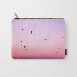 birds in the sky rose Carry-All Pouch