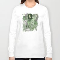snape Long Sleeve T-shirts featuring Portrait of a Potions Master by Karen Hallion Illustrations