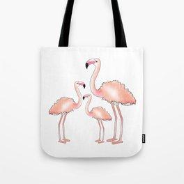 Pink Flamingo Trio Tote Bag