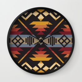 American Native Pattern No. 38 Wall Clock