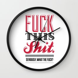 Eff This Ess Wall Clock