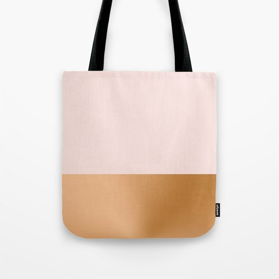 Blush Pink and Copper  Tote Bag