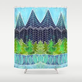 Magical Mountain Forest Shower Curtain