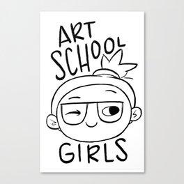 Art School Girls Canvas Print