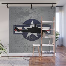 AH-1 Cobra Helicopter Wall Mural