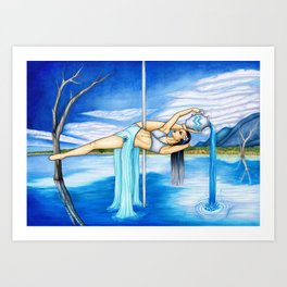 Pole Stars - AQUARIUS Art Print