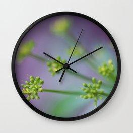 Purple Yellow Blooms Wall Clock