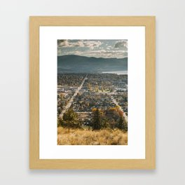 Kelowna At Day Framed Art Print