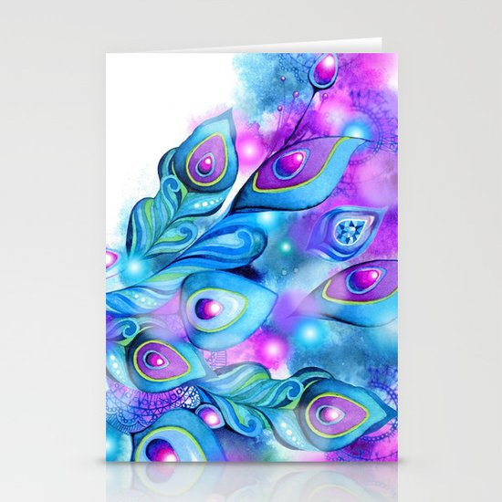 Peacock Fantasy Stationery Cards