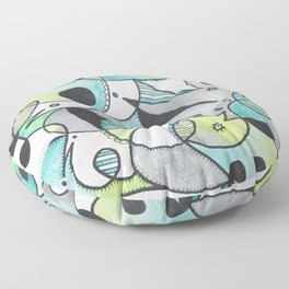 Abstract Critters Floor Pillow