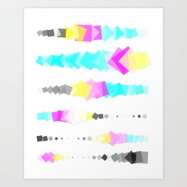 Printer Squares Art Print