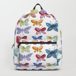 Colorful butterflies waterolor Backpack