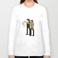 8bit Long Sleeve T-shirts featuring 8bit dead by Molnár Roland