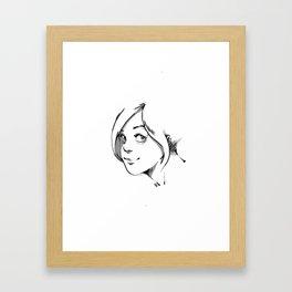 SMILE AT ME. Framed Art Print