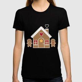 Kawaii Christmas Gingerbread House T-shirt