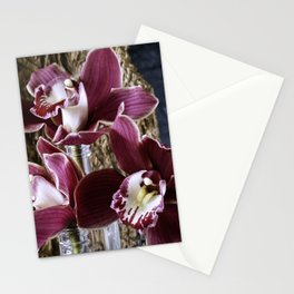 Magenta Orchids Orchidaceae flower blooms Stationery Cards