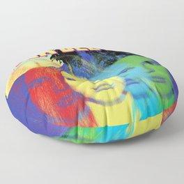 lana del ray rainbow 2021 Floor Pillow