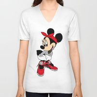 minnie mouse V-neck T-shirts featuring MINNIE MOUSE AJ4 by EA88