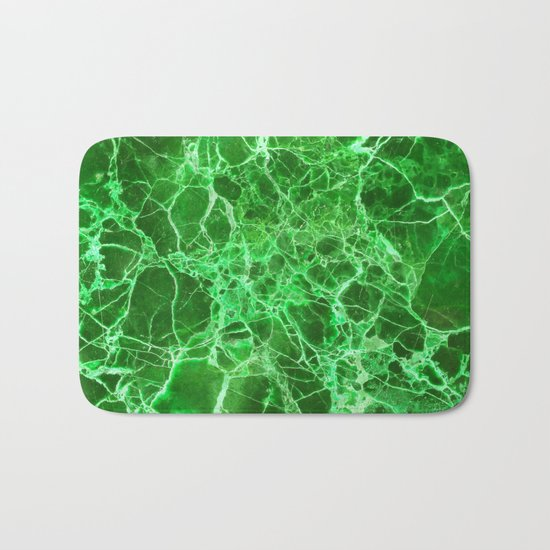 Emerald green marble Bath Mat