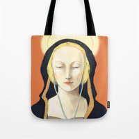 madonna Tote Bags featuring Musical Madonna by Eleanor Webber
