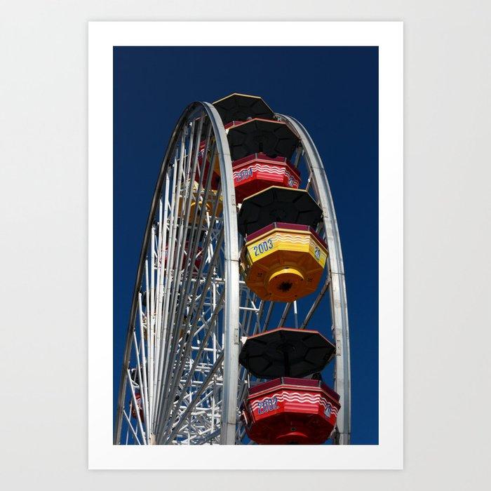 Santa Monica Pier, Ferris Wheel Art Print
