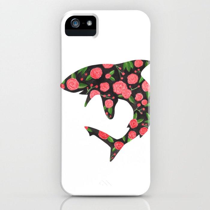 Floral Shark iPhone Case