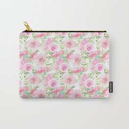 Blush Pink Florals Carry-All Pouch